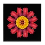 Red and Yellow Daylily I Tile Coaster
