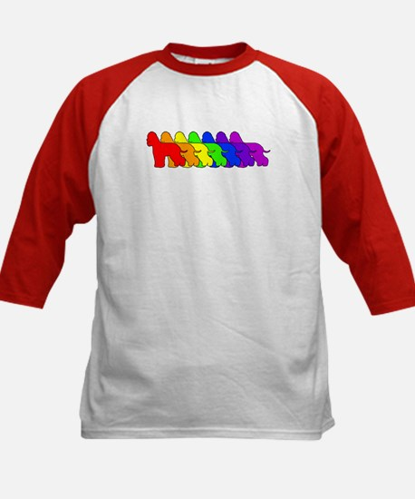 Rainbow Whiptail Kids Baseball Jersey