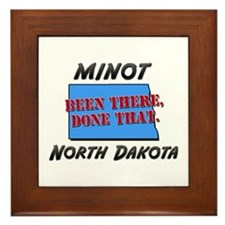 minot north dakota - been there, done that Framed