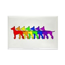 Rainbow Manchester Rectangle Magnet