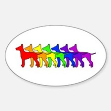 Rainbow Manchester Oval Decal