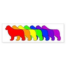 Rainbow Newfie Bumper Bumper Sticker