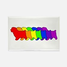 Rainbow Norfolk Rectangle Magnet