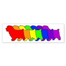 Rainbow Norfolk Bumper Bumper Sticker