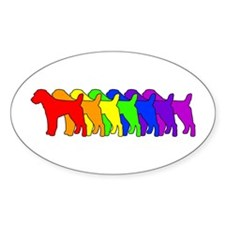 Rainbow Russell Oval Decal