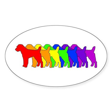 Rainbow Russell Oval Sticker