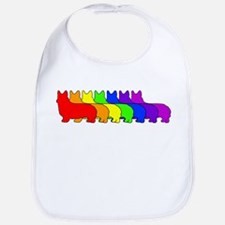 Rainbow Pembroke Bib