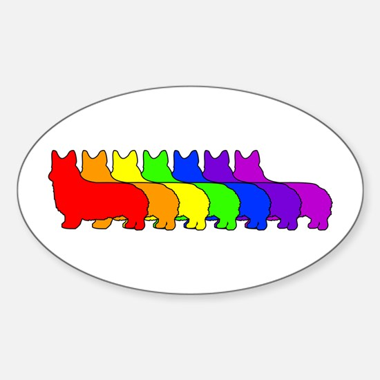 Rainbow Pembroke Oval Decal