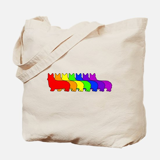 Rainbow Pembroke Tote Bag