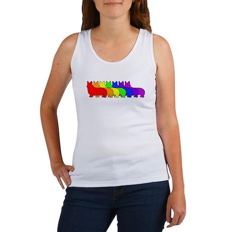 Rainbow Pembroke Women's Tank Top