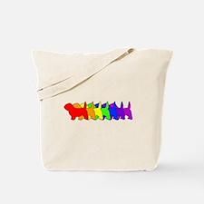 Rainbow PBGV Tote Bag