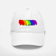 Rainbow Pomeranian Baseball Baseball Cap