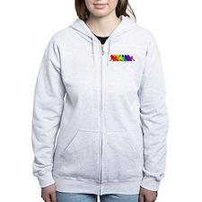 Rainbow Poodle Zip Hoodie