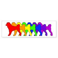 Rainbow Portie Bumper Bumper Sticker