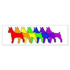 Rainbow Rat Terrier Bumper Bumper Stickers