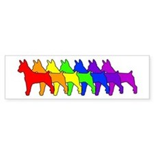 Rainbow Rat Terrier Bumper Car Sticker