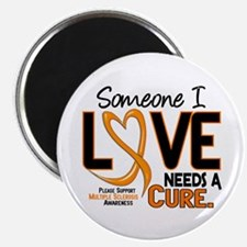 "Needs A Cure 2 MULTIPLE SCLEROSIS 2.25"" Magnet (10"