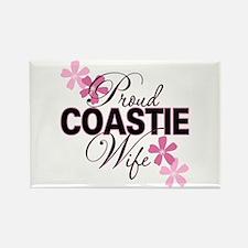 Proud Coastie Wife Rectangle Magnet