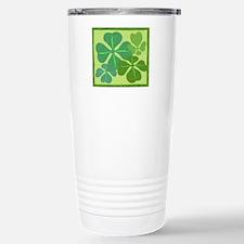 4-Leaf Clover Stainless Steel Travel Mug