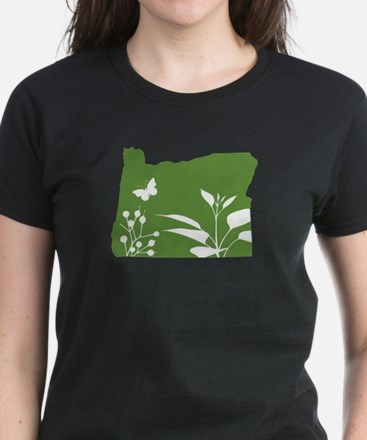 Green Oregon Women's Dark T-Shirt