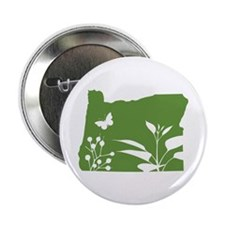 "Green Oregon 2.25"" Button"