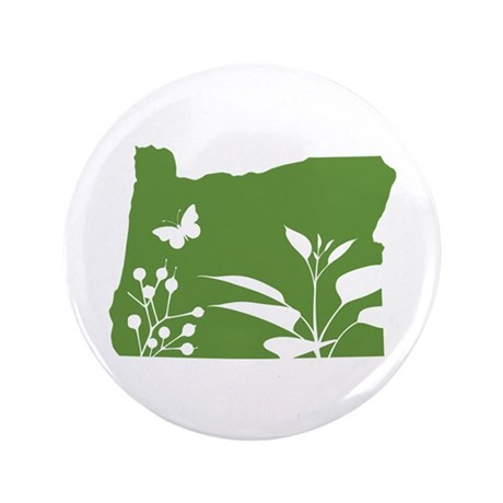 "Green Oregon 3.5"" Button"