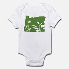 Green Oregon Infant Bodysuit
