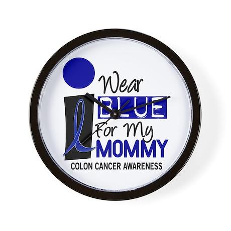 I Wear Blue For My Mommy 9 CC Wall Clock