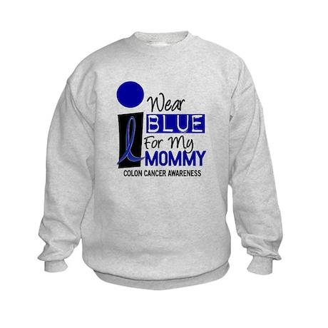 I Wear Blue For My Mommy 9 CC Kids Sweatshirt