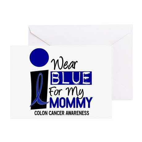 I Wear Blue For My Mommy 9 CC Greeting Card
