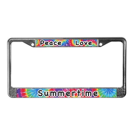 Peace Love Summertime License Plate Frame