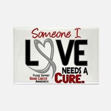 Needs A Cure 2 BRAIN CANCER Rectangle Magnet