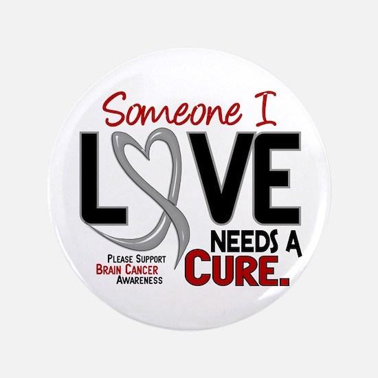 "Needs A Cure 2 BRAIN CANCER 3.5"" Button"