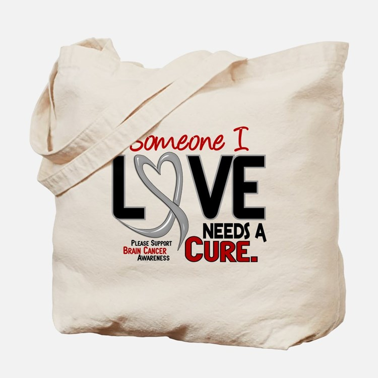 Needs A Cure 2 BRAIN CANCER Tote Bag
