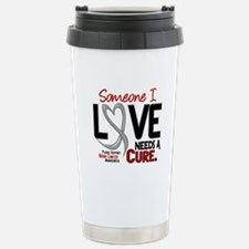 Needs A Cure 2 BRAIN CANCER Travel Mug