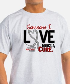Needs A Cure 2 BRAIN CANCER T-Shirt