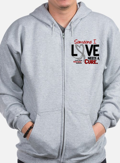 Needs A Cure 2 BRAIN CANCER Zip Hoodie