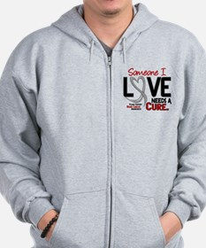 Needs A Cure 2 BRAIN CANCER Zip Hoody