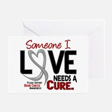Needs A Cure 2 BRAIN CANCER Greeting Card