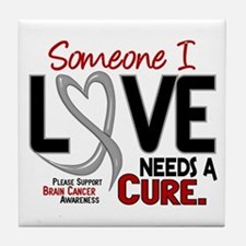 Needs A Cure 2 BRAIN CANCER Tile Coaster