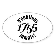1755 Oval Bumper Stickers