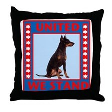 Red, white and blue toy manchester Throw Pillow