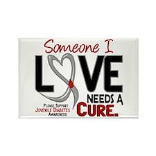 Needs A Cure 2 JUVENILE DIABETES Rectangle Magnet