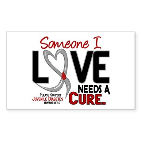 Needs a cure 2 juvenile diabetes decal by greyribbon for Stickers juveniles