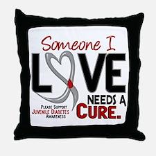 Needs A Cure 2 JUVENILE DIABETES Throw Pillow