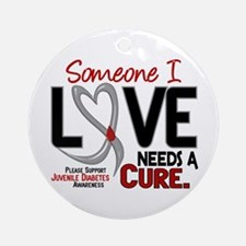 Needs A Cure 2 JUVENILE DIABETES Ornament (Round)