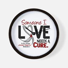 Needs A Cure 2 JUVENILE DIABETES Wall Clock