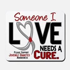 Needs A Cure 2 JUVENILE DIABETES Mousepad