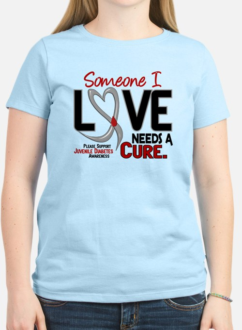 Needs A Cure 2 JUVENILE DIABETES T-Shirt