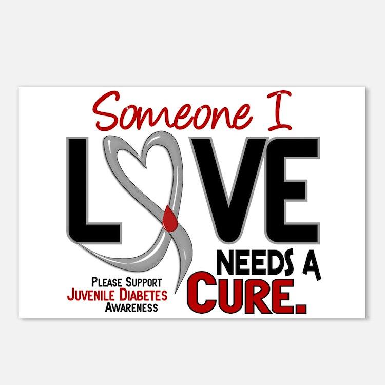 Needs A Cure 2 JUVENILE DIABETES Postcards (Packag